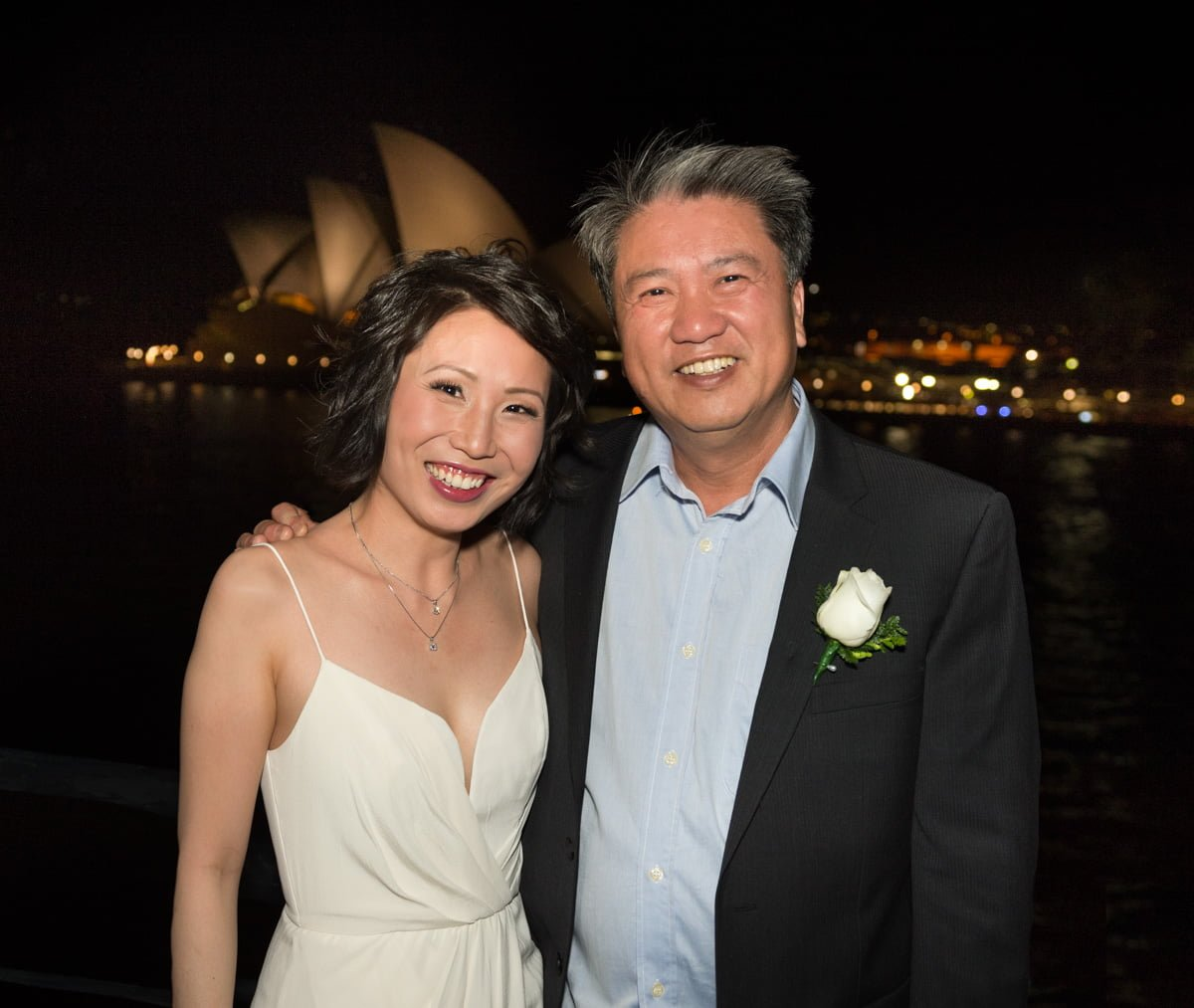 bride and her father at reception at Quay Restaurant