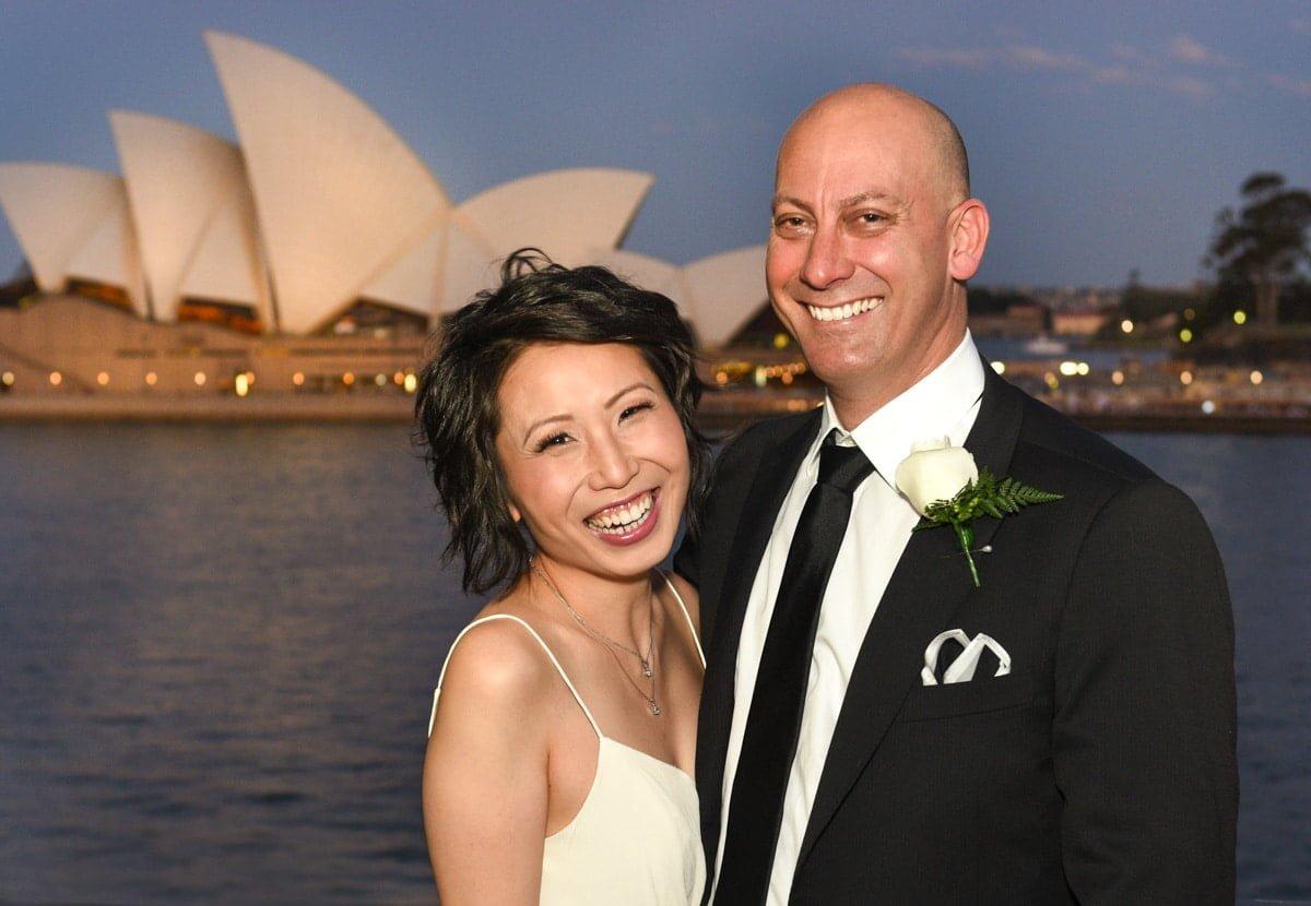 Rebecca and Shaun's wedding Party at Quay Restaurant Circular Quay