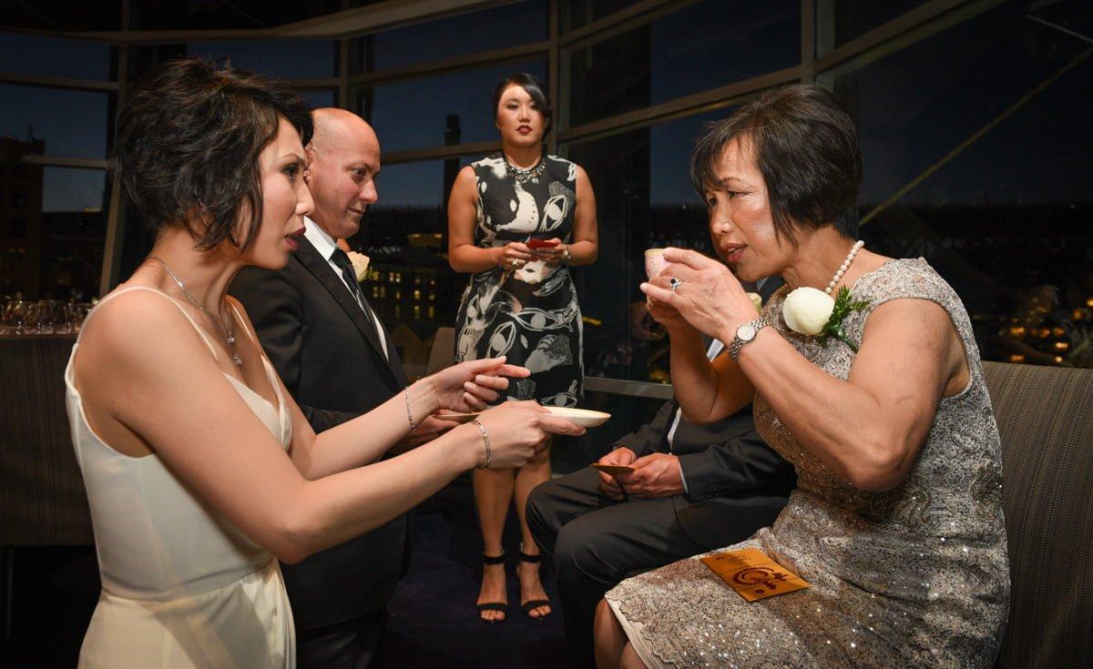 tea ceremony at wedding at Quay Restaurant circular quay