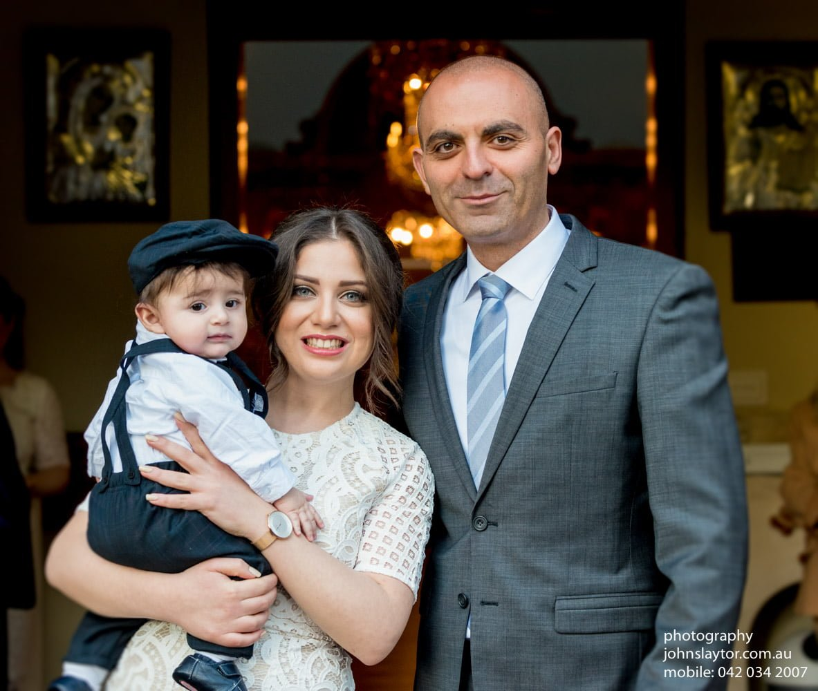 The godparents with Marc-Louis
