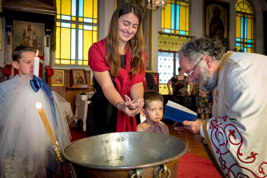 Peter's Christening at St Sophia Greek Orthodox Cathedral, Paddington